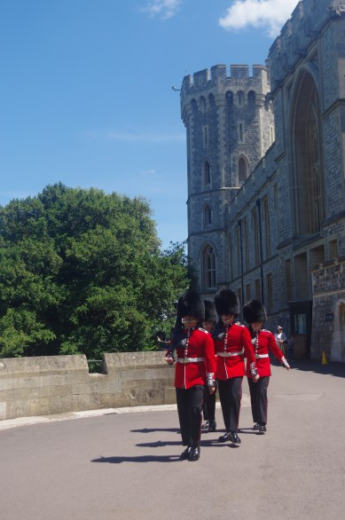 Windsor Castle with kids: changing guards