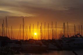 Italian island hopping: sunset