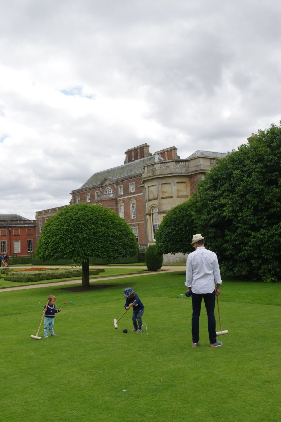 Wimpole Estate with kids: Croquet lawn