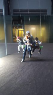 Tate modern with kids - swings