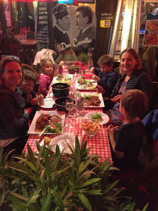 Provence with kids dinner