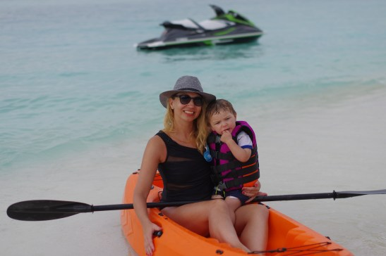 Maldives with kids: kayaking
