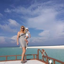 Angsana Velavaru boat - Maldives with toddler