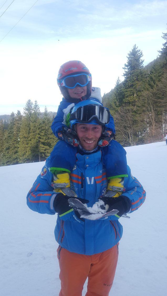 Poiana Brasov skiing with a 3 years old