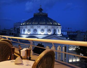 Athenee Palace Hilton executive lounge view