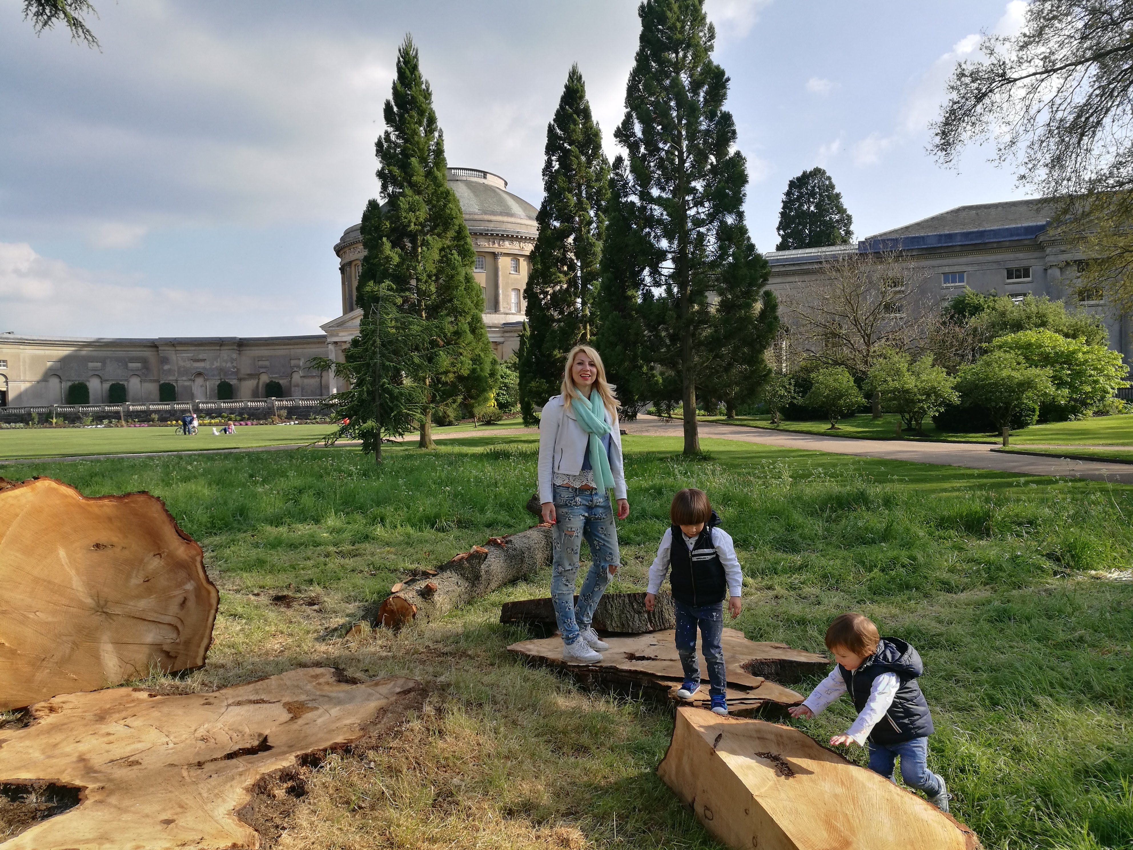 Ickworth House with kids