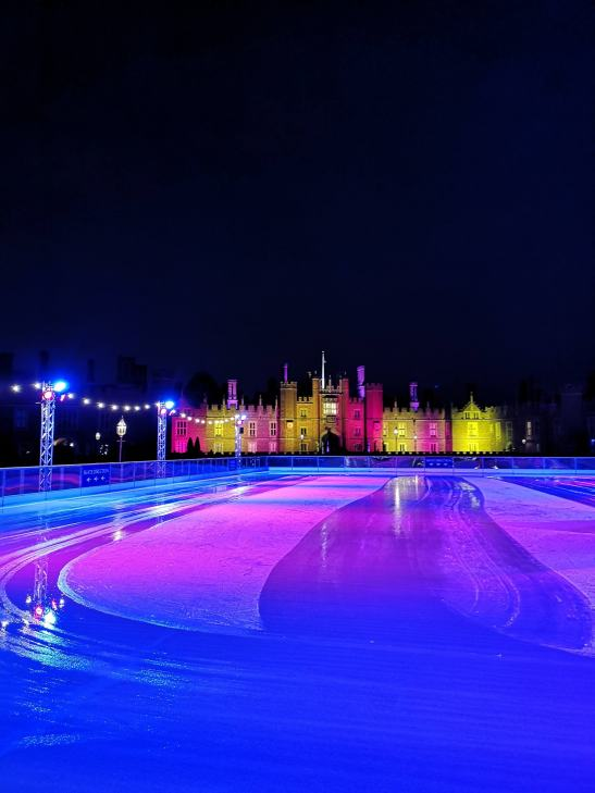 Hampton court palace ice rink - ice skating with toddlers