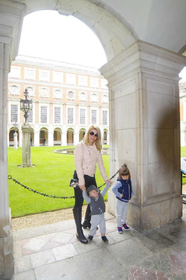 Hampton Court Palace with kids