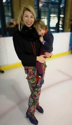 Ice Rink with toddler