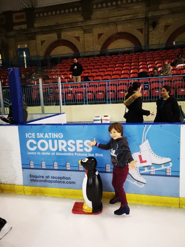 Ally Pally ice skating - 5 years old