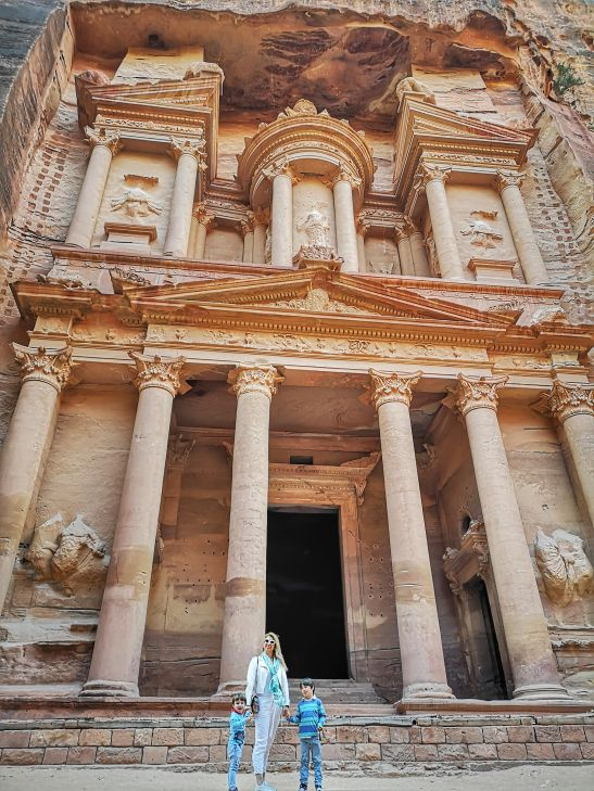 Petra Treasury at sunset