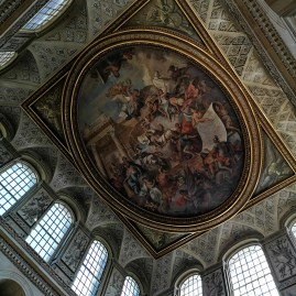 Blenheim Palace Cotswolds ceiling