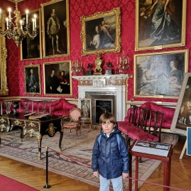 Blenheim Palace red drawing room
