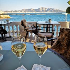 Luxury holidays in Marseille : Sunset at Le Petit Nice Marseille
