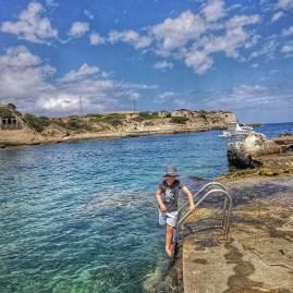 Dipping in the sea Cala San Esteve