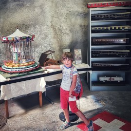 Miniatures in Melide, Ticino with kids