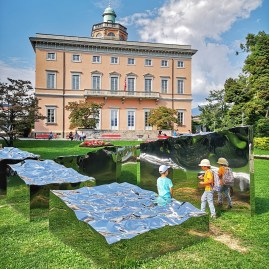Lugano park with children