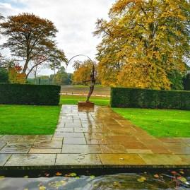 Coworth Park Carol Peace & autumn foliage