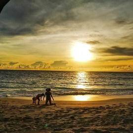 Sunset Intendance beach Seychelles