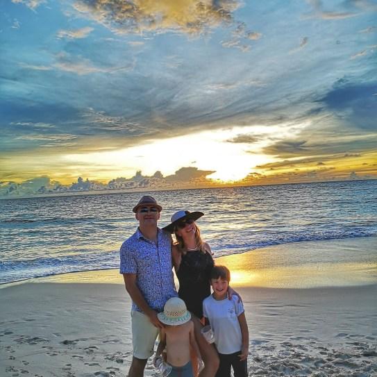 Sunset Mahe Intendance beach