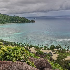 Kempinski Baie Lazare Seychelles and own lush mountain