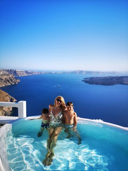 Formidable Santorini family holidays at Aqua luxury Suites