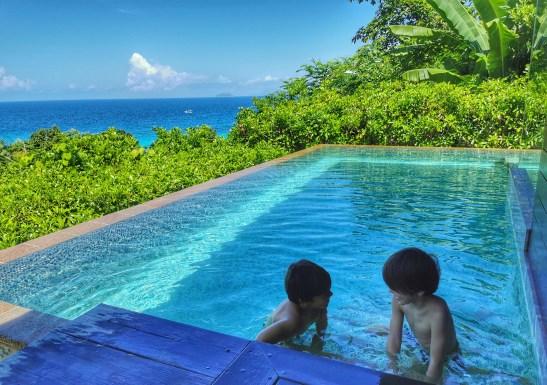 Mahe with kids - Four Seasons villa pool bliss