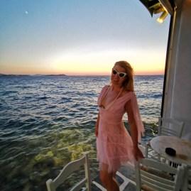 Sunset in Little Venice, Mykonos