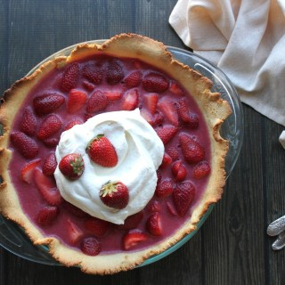 Summer Strawberry Pie with Shortbread Crust