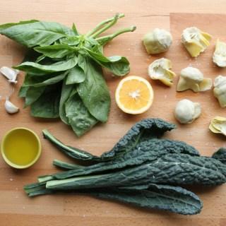 Kale Artichoke Pistou (paleo, vegan & AIP!)
