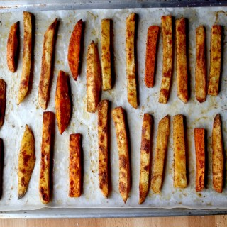 crispy sweet potato oven fries