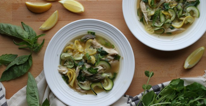 Spring Chicken Soup with Lemon & Asparagus