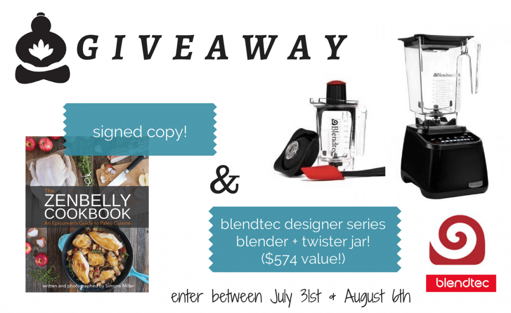the zenbelly cookbook blendtec giveaway