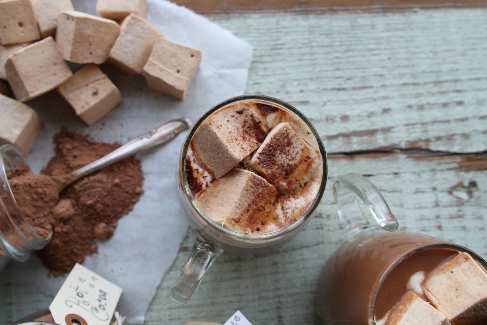 hot cocoa & marshmallows