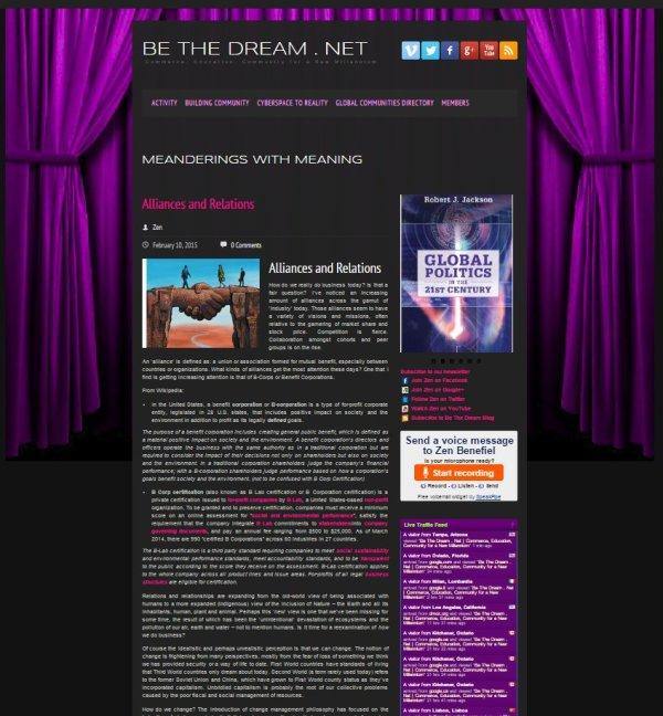 Be The Dream . Net