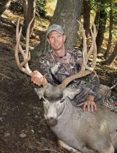 My tall-antlered 2016 Idaho buck.