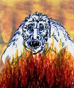 26 morlock grunt on fire