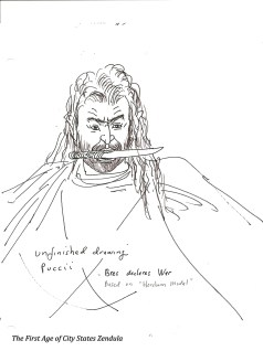 bree h knife mouth drawing of opera of climax of savage wars