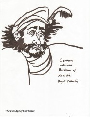 horsham in acadian cartoon
