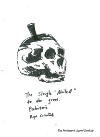 slaugh nailed skull prehistoric era royal collection