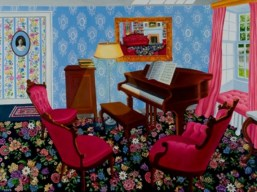 Roxa Smith - The Piano Room (2012) - Oil on canvas mounted on panel - 40x30