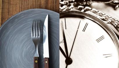 jeûne intermittent assiette horloge