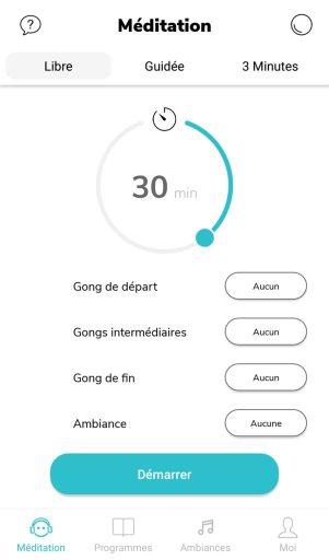 libre timer de l'application de méditation petit bambou