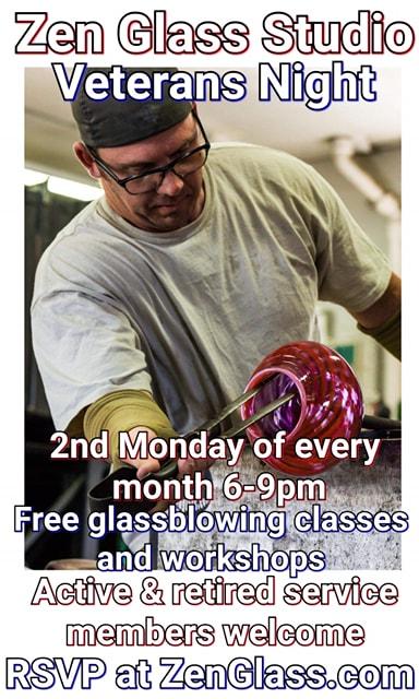 zen glass studios' Veterans Night