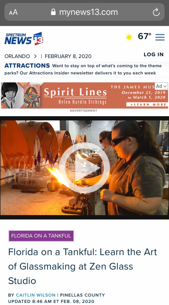 Florida on a Tankful: Learn the Art of Glassmaking at Zen Glass Studio