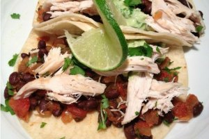 Quick Mexican Chicken and Black Bean Tacos