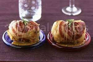 BACON WRAPPED LAMB ROULADES