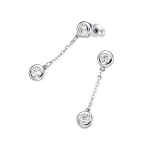 Boucles d'oreilles Zircone Inox 1554 zen-humeur-bien-être-magnétique