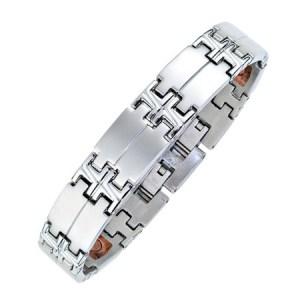 Bracelet Segments en inox large 1950 zen humeur