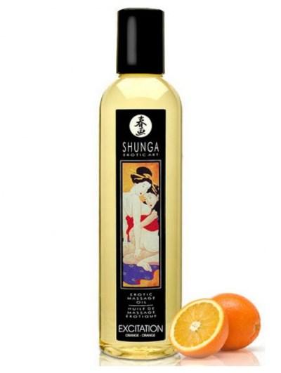 Huile de massage orange aphrodisiaque zen humeur